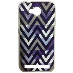 """Pattern"" cieta silikona futrālis - violeta (Y3 II)"