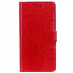 Atvēramais maciņš, grāmata - sarkans (Y5 2019 / Honor 8S)