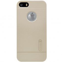 """Nillkin"" Frosted Shield futrālis - zelta + ekrāna aizsargplēve (iPhone 5 / 5S)"