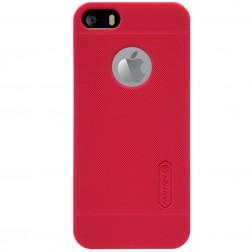 """Nillkin"" Frosted Shield futrālis - sarkans + ekrāna aizsargplēve (iPhone 5 / 5S)"