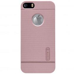 """Nillkin"" Frosted Shield futrālis - rozs + ekrāna aizsargplēve (iPhone 5 / 5S)"
