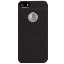 """Nillkin"" Frosted Shield futrālis - brūns + ekrāna aizsargplēve (iPhone 5 / 5S)"