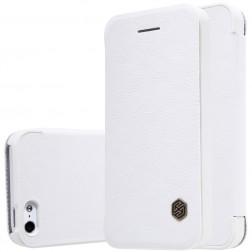 """""""Nillkin"""" Qin atvēramais maciņš - balts (iPhone 5 / 5s / SE)"""