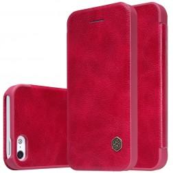 """""""Nillkin"""" Qin atvēramais maciņš - sarkans (iPhone 5 / 5s / SE)"""