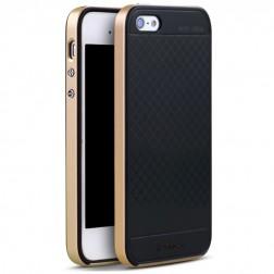 """IPAKY"" cieta silikona (TPU) apvalks - melns / zelta (iPhone 5 / 5S / SE)"