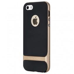 """Rock"" Royce apvalks - melns apmales zeltā krāsā(iPhone 5 / 5s / SE)"