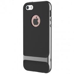 """Rock"" Royce apvalks - melns / pelēks (iPhone 5 / 5s / SE)"