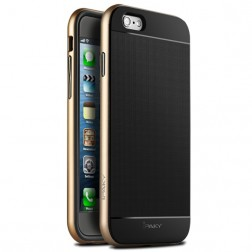 """IPAKY"" cieta silikona (TPU) apvalks - melns / zelta (iPhone 6 / 6s)"