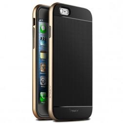 """""""IPAKY"""" cieta silikona (TPU) apvalks - melns / zelta (iPhone 6 Plus / 6s Plus)"""