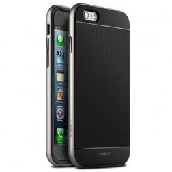 """IPAKY"" cieta silikona (TPU) apvalks - melns / sudrabs (iPhone 6 Plus / 6s Plus)"