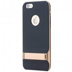 """Rock"" Royce Kickstand apvalks - melns apmales zeltā krāsā (iPhone 6 Plus / 6s Plus)"