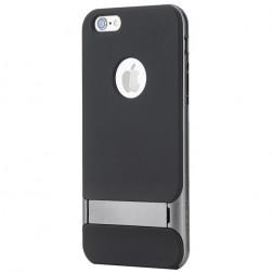 """""""Rock"""" Royce Kickstand apvalks - melns apmales pelēkā krāsā (iPhone 6 Plus / 6s Plus)"""