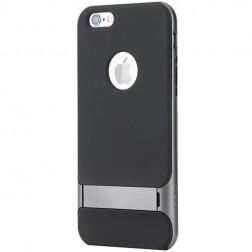 """""""Rock"""" Royce Kickstand apvalks - melns apmales pelēkā krāsā (iPhone 6 / 6s)"""