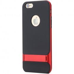 """""""Rock"""" Royce Kickstand apvalks - melns apmales sarkanā krāsā (iPhone 6 Plus / 6s Plus)"""