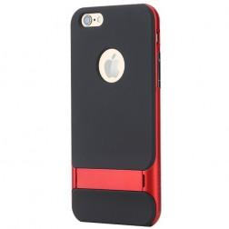 """""""Rock"""" Royce Kickstand apvalks - melns apmales sarkanā krāsā (iPhone 6 / 6s)"""