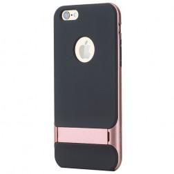 """Rock"" Royce Kickstand apvalks - melns apmales rozā krāsā (iPhone 6 Plus / 6s Plus)"