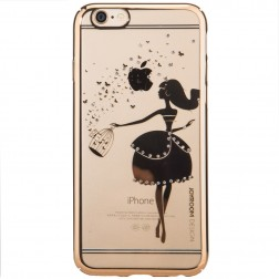 """Devia"" Apple iPhone 6 (6s) Joyroom Butterflies apvalks - zelta (iPhone 6 / 6S)"