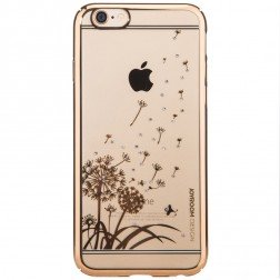 "Apple iPhone 6 (6s) ""JOYROOM"" Dandelion Field apvalks - zelta (iPhone 6 / 6S)"