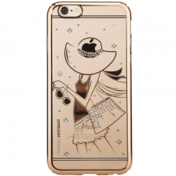 """Devia"" Apple iPhone 6 (6s) Joyroom Summer Girl apvalks - zelta (iPhone 6 / 6S)"