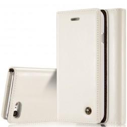 """""""CaseMe"""" solīds atvēramais ādas maciņš - balts (iPhone 7 / 8)"""