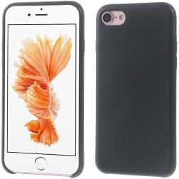 Cieta silikona (TPU) apvalks - melns (iPhone 7 / 8)