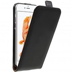 Vertikāli atvēramais maciņš - melns (iPhone 7 / 8)