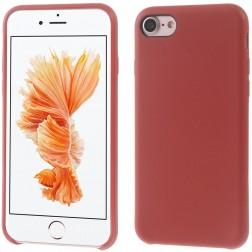 Cieta silikona (TPU) apvalks - sarkans (iPhone 7 / 8)
