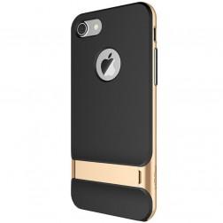 """""""Rock"""" Royce Kickstand apvalks - melns apmales zeltā krāsā (iPhone 7 / 8)"""