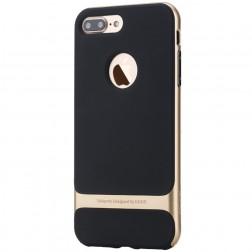 """Rock"" Royce apvalks - melns apmales zeltā krāsā (iPhone 7 Plus / 8 Plus)"