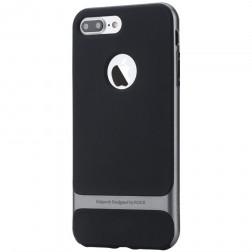 """""""Rock"""" Royce apvalks - melns apmales pelekā krāsā (iPhone 7 Plus / 8 Plus)"""
