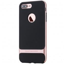 """""""Rock"""" Royce apvalks - melns apmales rozā krāsā (iPhone 7 Plus / 8 Plus)"""