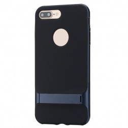 """Rock"" Royce Kickstand apvalks - melns apmales tumši zils (iPhone 7 / 8)"