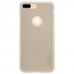 """Nillkin"" Frosted Shield apvalks - zelta + ekrāna aizsargplēve (iPhone 7 Plus / 8 Plus)"