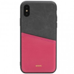 """MOKKA"" Svelte ādas apvalks - rozs / peleks (iPhone X / Xs)"