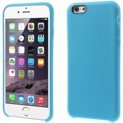 Cieta silikona (TPU) apvalks - gaiši zils (iPhone 6 / 6s)