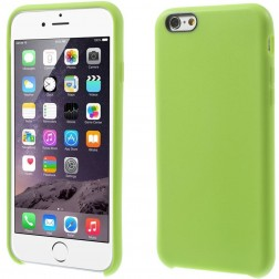 Cieta silikona (TPU) apvalks - zaļš (iPhone 6 / 6s)