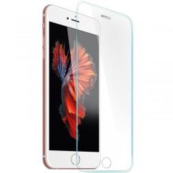 Pilnīgi aizsedzams ekrāna aizsargstikls ar silikona (TPU) sānu apmale (0,3 mm) - dzidrs (iPhone 6 / 6s)