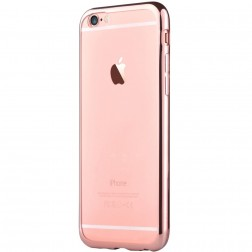 """Devia"" Glitter apvalks - dzidrs, rozs + ekrāna aizsargstikls (iPhone 7 / 8)"