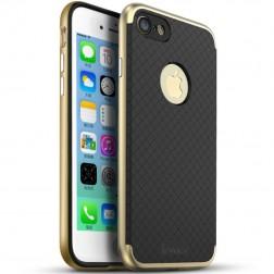"""IPAKY"" cieta silikona (TPU) apvalks - melns / zelta (iPhone 7 / 8)"