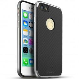 """IPAKY"" cieta silikona (TPU) apvalks - melns / sudrabs (iPhone 7 / 8)"