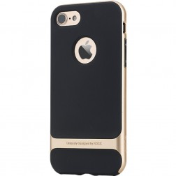 """Rock"" Royce apvalks - melns / zelta (iPhone 7 / 8)"