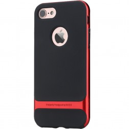 """Rock"" Royce apvalks - melns / sarkans (iPhone 7 / 8)"