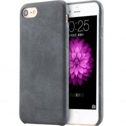 """USAMS"" Slim Leather ādas apvalks - melns (iPhone 7 / 8)"