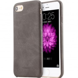 """USAMS"" Slim Leather ādas apvalks - brūns (iPhone 7 / 8)"