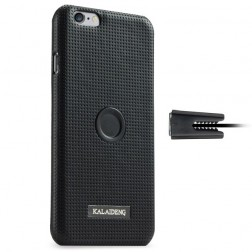 """Kalaideng"" Drive apvalks - melns + autoturētājs (iPhone 6 / 6s)"