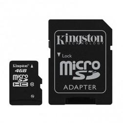 """Kingston"" MicroSD atmiņas karte - 4 Gb (10 Klase) + SD adapteris"