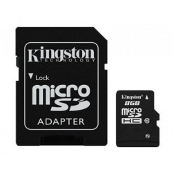 """Kingston"" MicroSD atmiņas karte - 8 Gb (10 Klase) + SD adapteris"