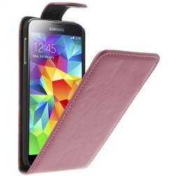 Klasisks atvēramais futrālis - rozs (Galaxy S5 / S5 Neo)