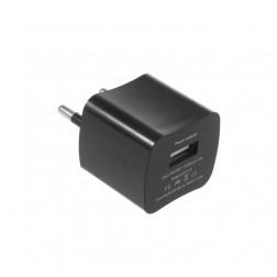 Mini tīkla lādētājs - melns (1 A)