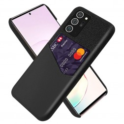 """KSQ"" Shell ādas apvalks - melns (Galaxy Note 20)"